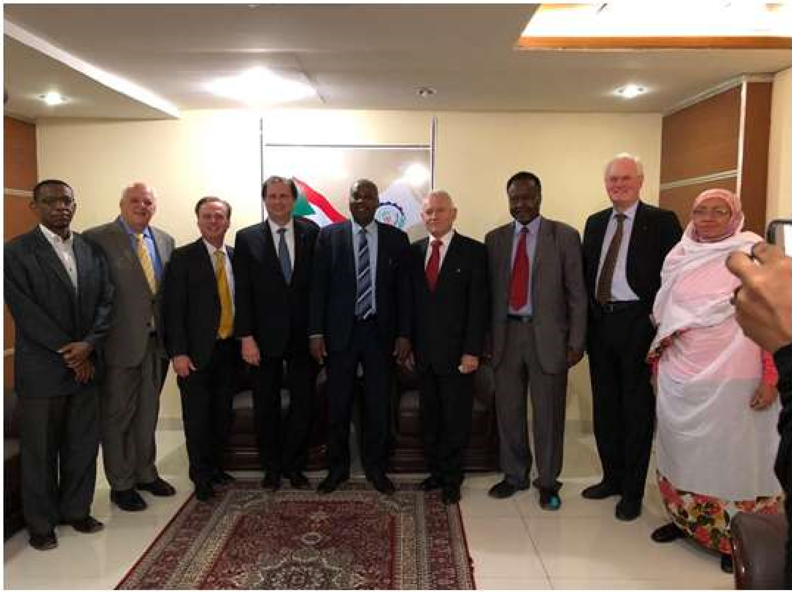 Sudan Delegation with Dr. Musa Karama, Minister of Industry